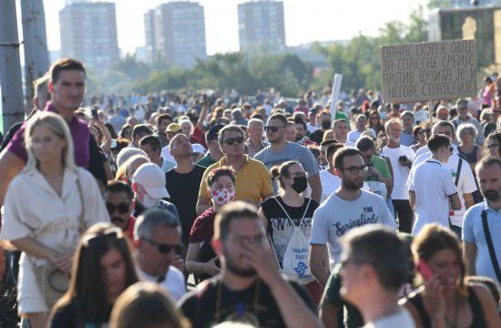 Ekološki protest, Ustanak za opstanak, protestna šetnja, Brankov most