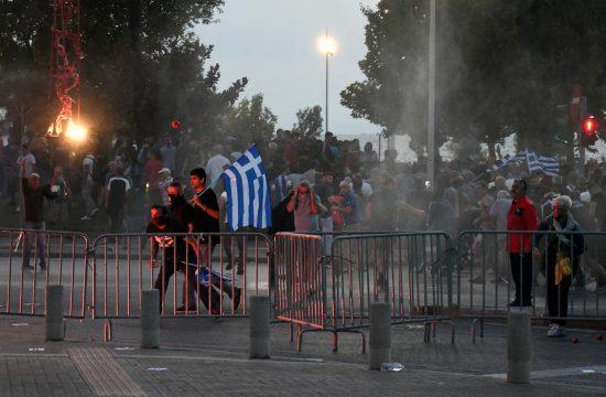 Grčka, Solun, protest, vakcinacija, koronavirus