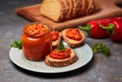 15.9. (a) ajvar stock-photo-ajvar-pepper-mousse-in-a-jar-and-on-a-slices-of-bread-ajvar-delicious-dish-of-red-peppers-1010572243