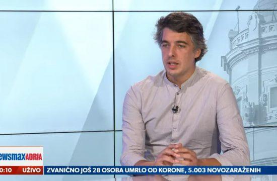 Đorđe Miketić, Djordje Miketić, gost, emisija Pregled dana Newsmax Adria
