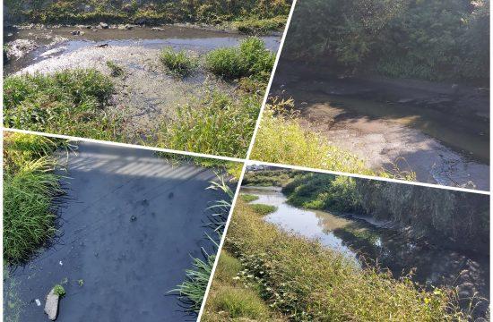 Reka Gročica, korito reke Gročice, zagađenje, zagadjenje