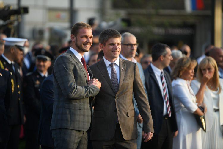 Draško Stanivuković i Arno Gujon Dan srpskog jedinstva, slobode i nacionalne zastave