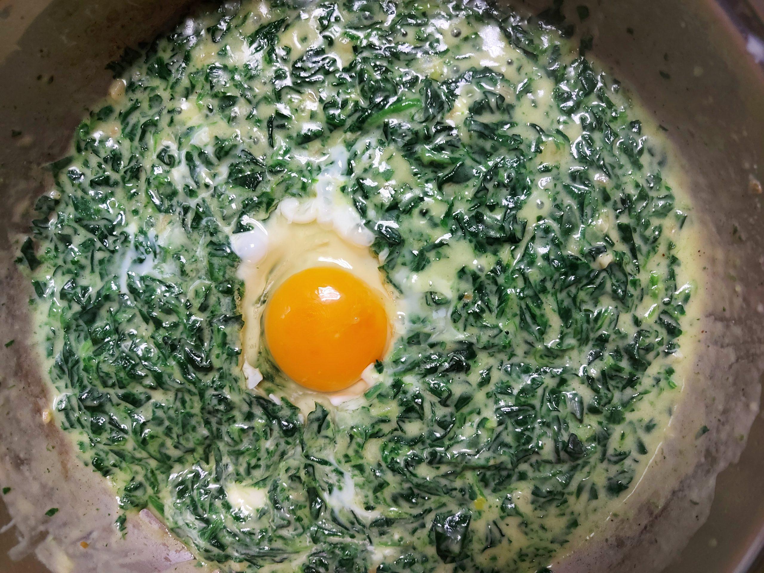 Spanać sa jajetom Majstor amater, recept dana