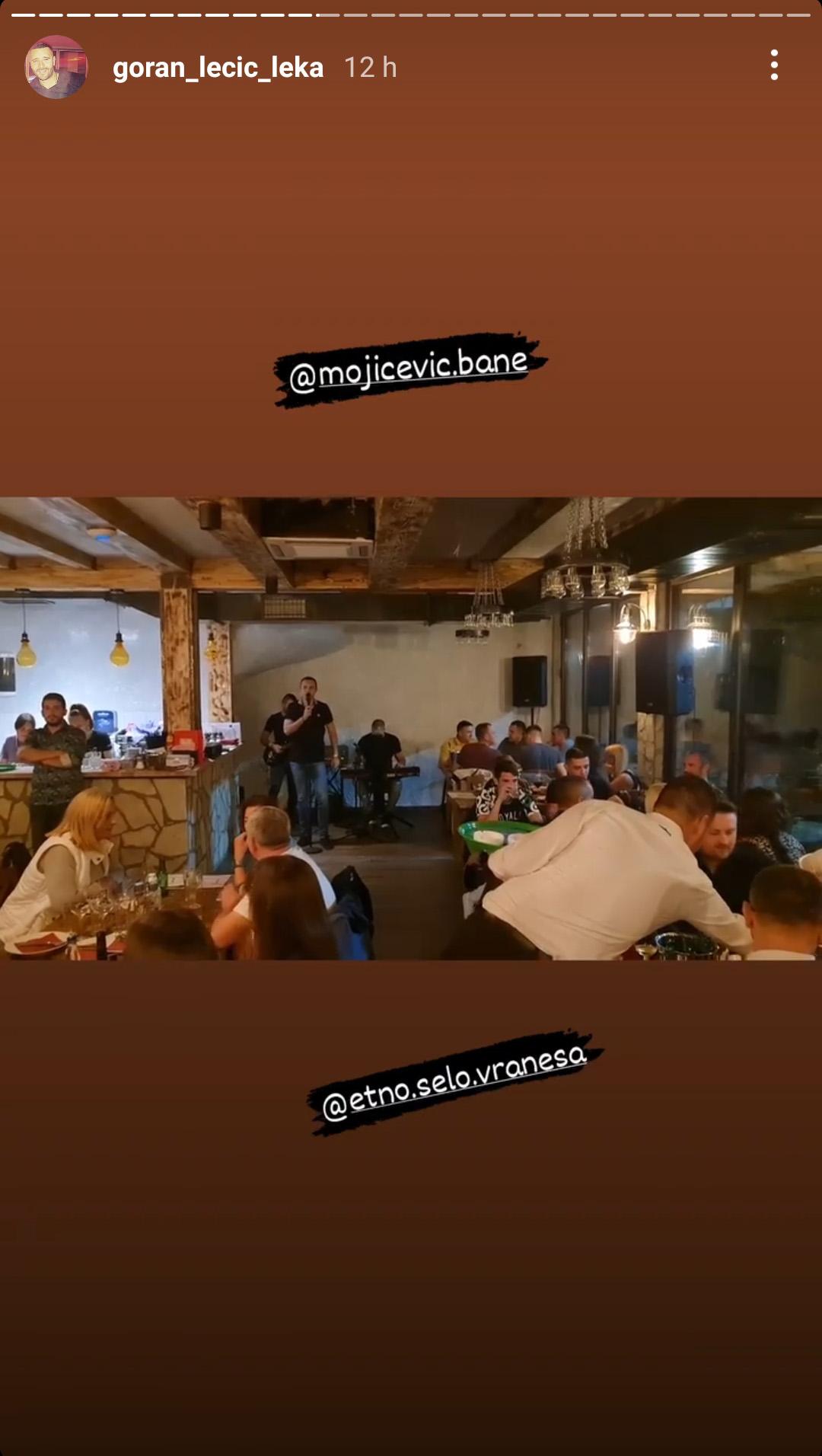 Goran Lečić Leka, Bane Mojićević Instagram