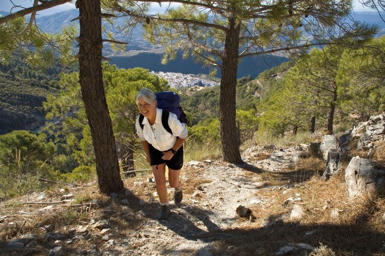 Žena planinari menopauza