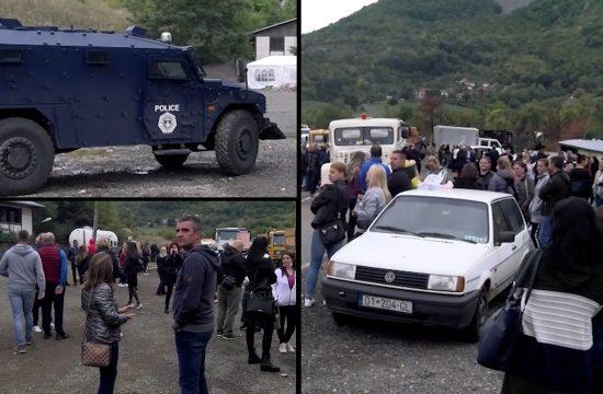 Okupljanje građana na Brnjaku i Jarinju