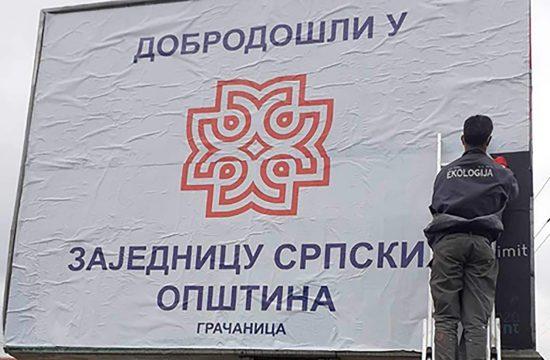 Kosovo i Metohija, Gračanica, bilbord