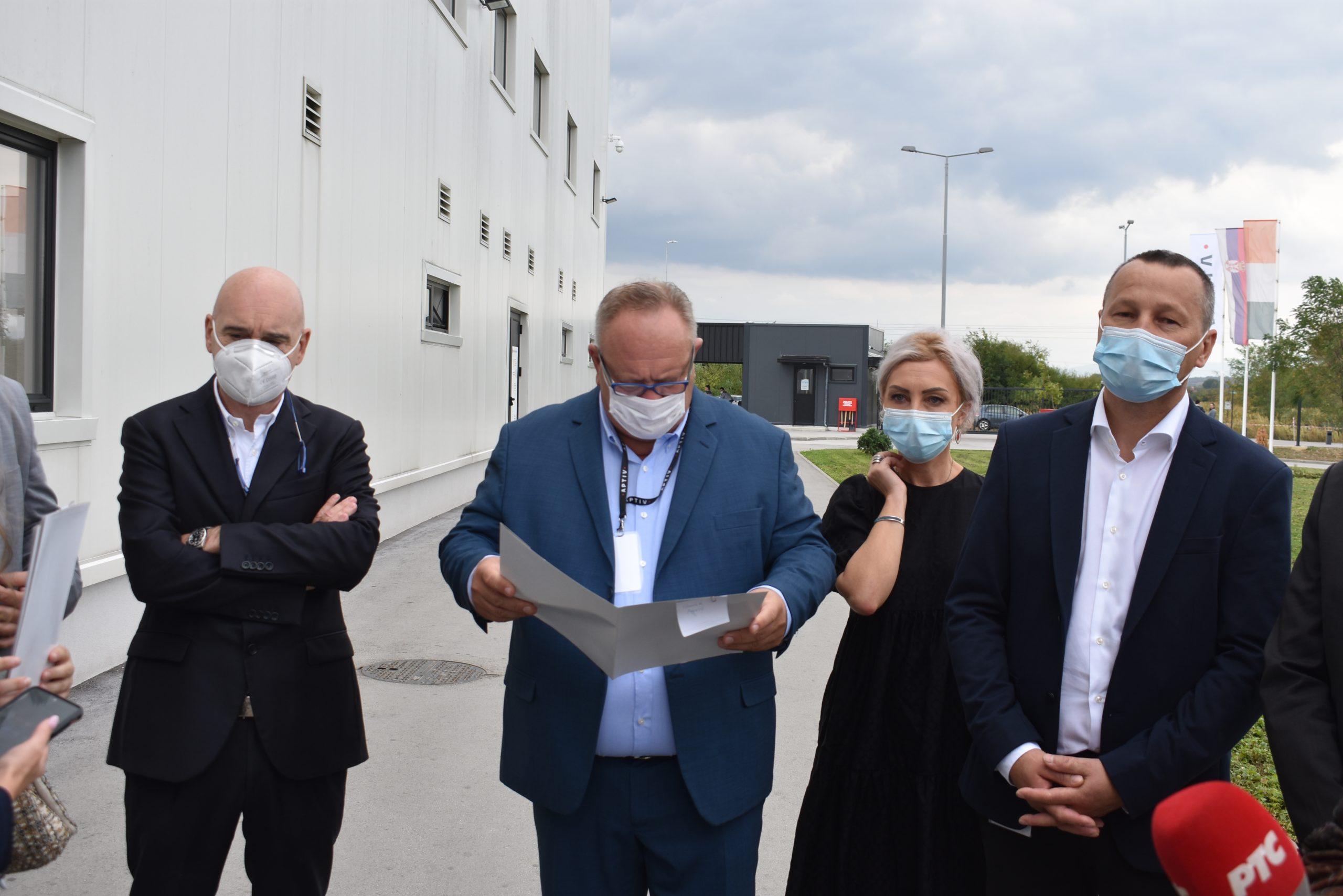 Goran Cvetanović Leskova, fabrika Aptiv, pogon