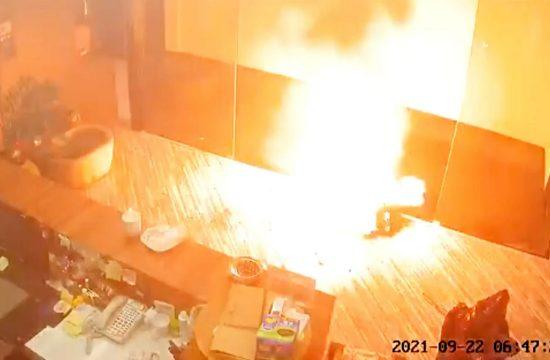 Eksplozija baterija u kancelariji