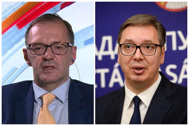 Vojin Rakić i Aleksandar Vučić