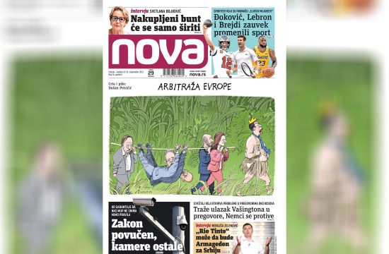 Nova, naslovna za subotu i nedelju, 25-26. septembar, broj 76, vikend broj, dnevne novine Nova, dnevni list Nova Nova.rs