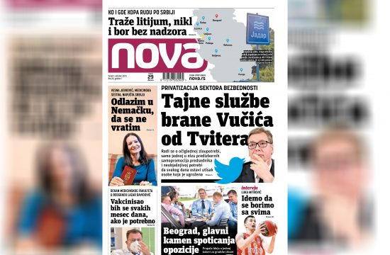 Nova, naslovna za petak 01. oktobar, broj 81, dnevne novine Nova, dnevni list Nova Nova.rs