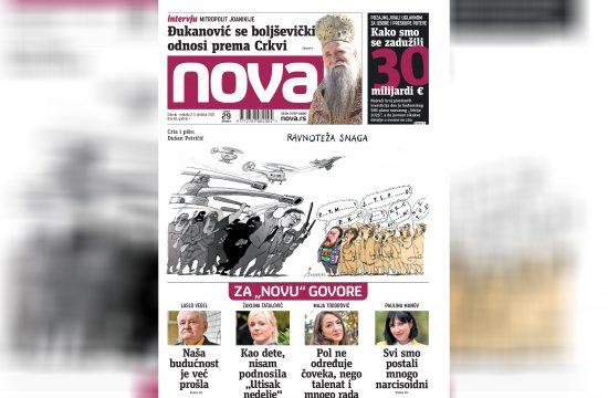 Nova, naslovna za subotu i nedelju 02. i 03. oktobar, broj 82, dnevne novine Nova, dnevni list Nova Nova.rs