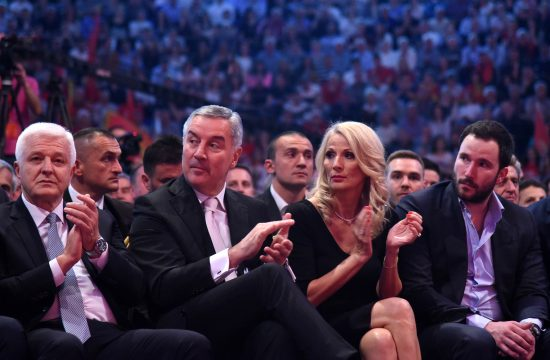 Duško Marković, Milo Đukanović, Lidija Đukanović i Blažo Đukanović