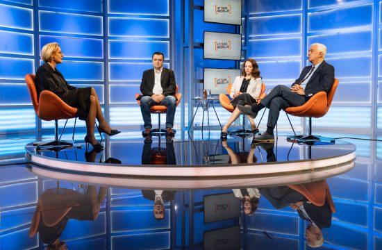 Olja Bećković, Milanko Šekler, Sofija Mandić i Dragan Delić, emisija Utisak nedelje