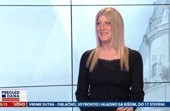 Jelena Zorić, gost, emsija Pregled dana Newsmax Adria