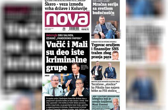 Nova, naslovna za petak 08. oktobar, broj 87, dnevne novine Nova, dnevni list Nova Nova.rs