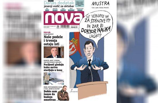 Nova, naslovna za subotu i nedelju. 09. i 10. oktobar, broj 88, dnevne novine Nova, dnevni list Nova Nova.rs