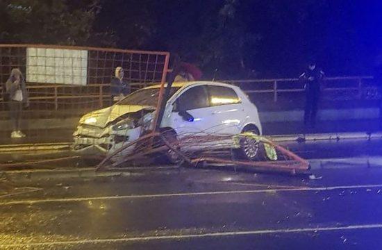 Udes kod Pančevačkog mosta, Pančevački most, saobraćajna nesreća, udes N1
