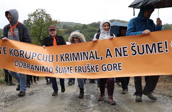 Fruška Gora, protest, Odbranimo šume Fruške Gore