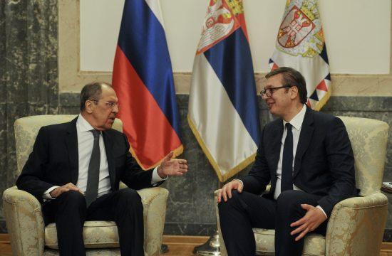 Sergej Lavrov i Aleksandar Vučić Sergey Lavrov