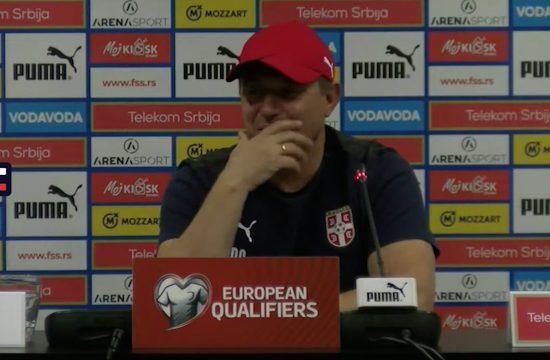 Dragan Stojković Piksi - konferencija za medije pred utakmicu sa Azerbejdžanom