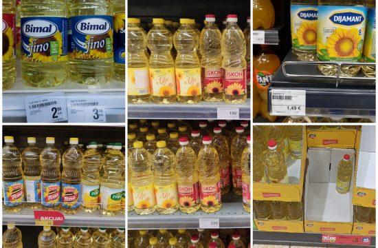 Bosna i Hercegovina, Hrvatska, Crna Gora, Slovenija, Srbija. Ulje, cena ulja, poskupljenje. Oktobar 2021. Cene proizvoda u porodavnici, prodavnica, supermarket, ulje, cena, poskupljenje