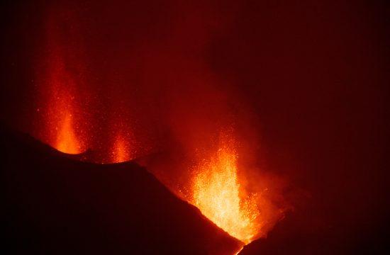La Palma vulkan lava eksplozija