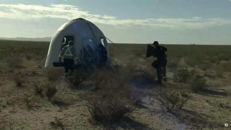Letelica kompanije Blu Oridžin, Blue Origin, let do svemira i nazad, Džef Bezos, Vilijam Šatner, William Shatner, svemir