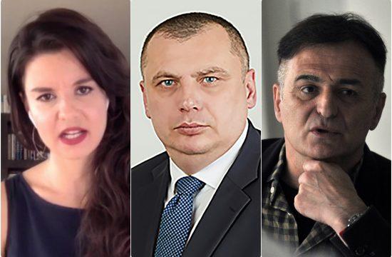 Danijela Stajnfeld, Nemanja Aleksic i Branislav Lecic