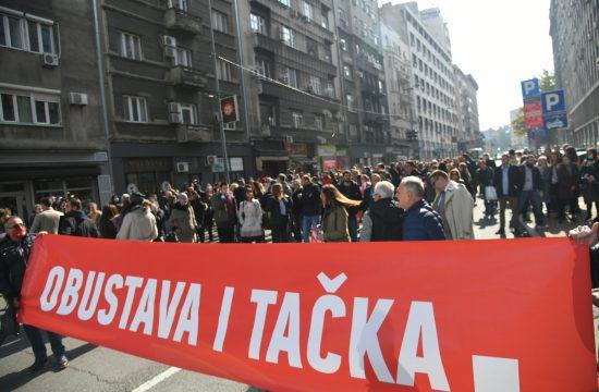 Protest advokata ispred Advokatske komore Srbije, AKS, advokati, zatvorena ulica, Dečanska