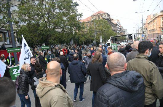 Protest Inicijative Ne davimo Beograd ispred Republičkog javnog tužilaštva, Nemanjina ulica, Republičko javno tužilaštvo