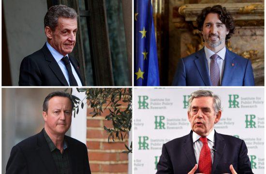 Nikola Sarkozi Nicolas Sarkozy Džastin Trudo Justin Trudeau Dejvid Kameron David Cameron Gordon Braun Gordon Brown