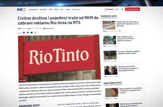 Rio Tinto projekat Jaradar reklama