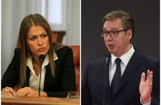 Dijana Hrkalović i Aleksandar Vučić