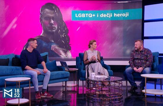LGBTQ+ i dečji heroji, gosti Stevan Filipović, Branko Rosić, emisija Među nama, Medju nama Nova S