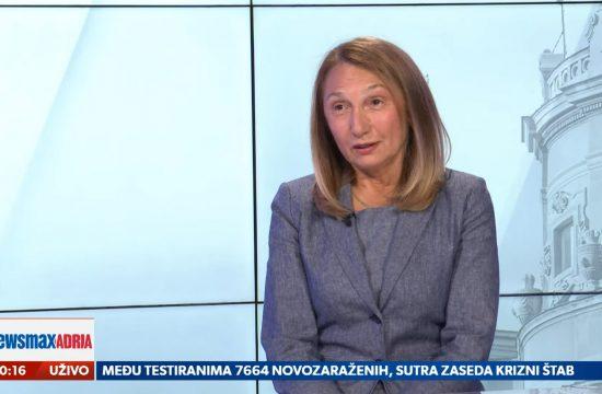 Snježana Milivojević, profesorka FPN, gost, emisija Pregled dana Newsmax Adria