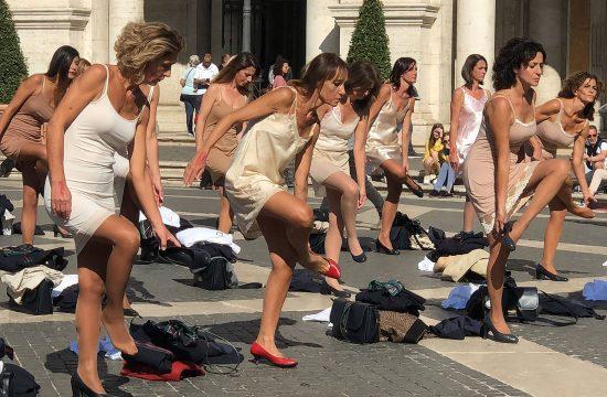 Italija, Rim, Stjuardese, protest, Alitalia