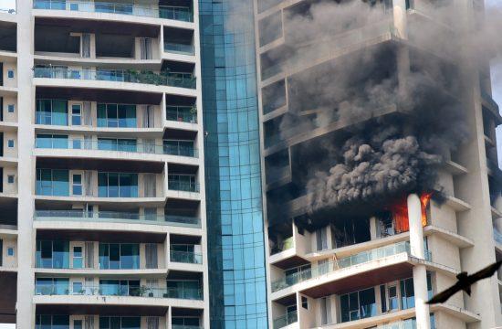 India, Indija, Mumbai, Mumbaj, požar