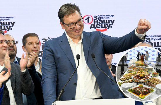 Aleksandar Vučić, SNS, ketering, proslava