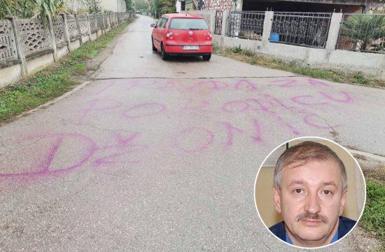 Aleksinac, Goran Džonić, grafit, Pravda za porodicu Džonić, osumljičen za ubistvo porodice Đokić, Djokić