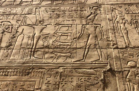 Egipat, Luksor, hijeroglifi