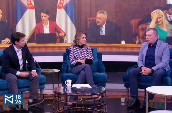 Aleksandar Milošević i Bojan Bilbija, gosti, emisija Među nama, Medju nama Nova S